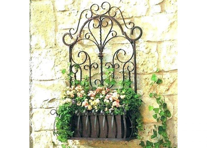 Çiçekli Ferforje Bahçe Aksesuar Modeli