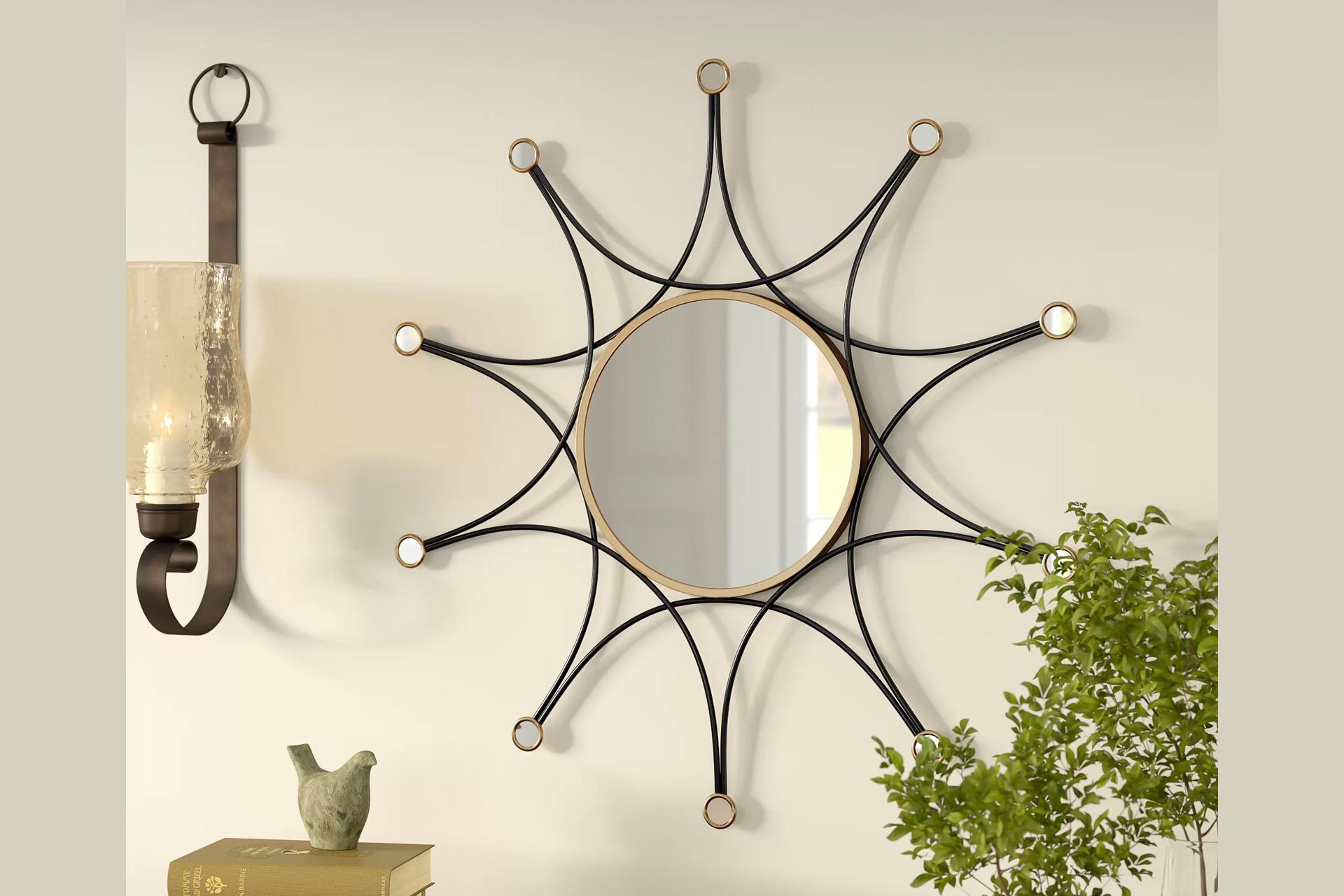 Dekoratif Ferforje Ayna Modeli
