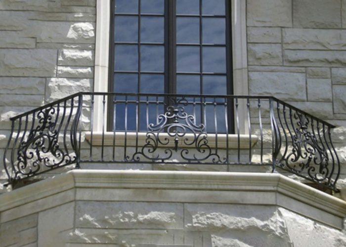 Düz Ferforje Pencere Korkuluk Modeli
