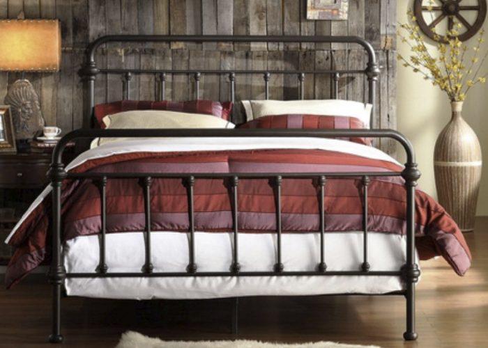 Düz İşlemeli Ferforje Yatak Modeli