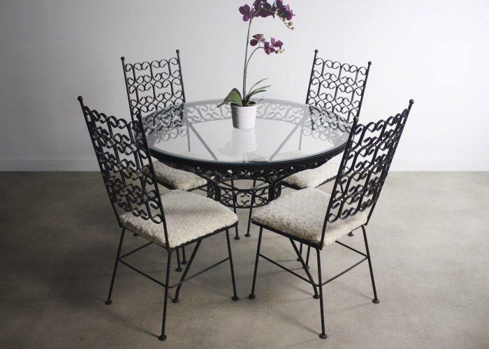 Ferforje Yemek Masası ve Sandalye Takımı