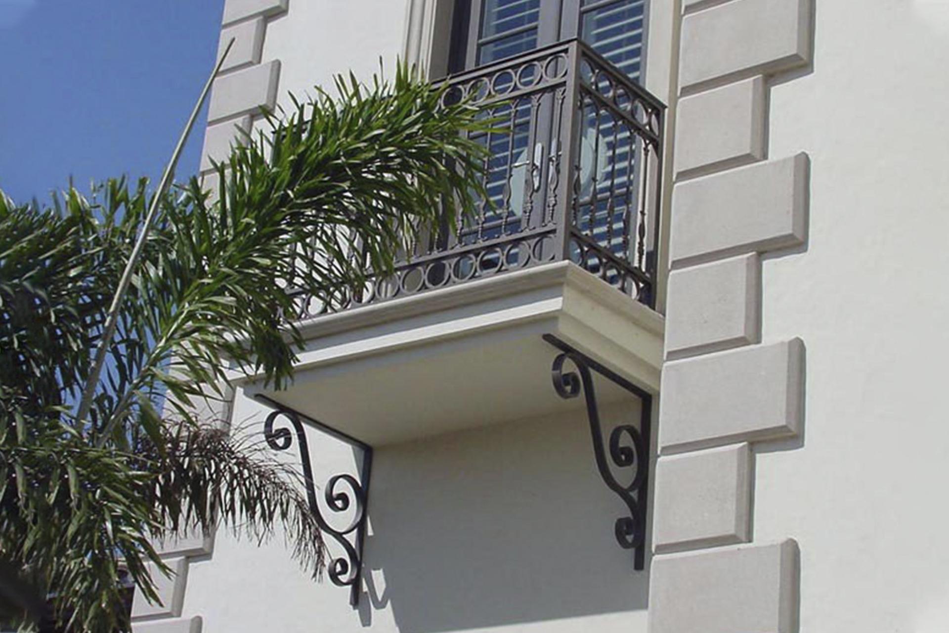 Mimari Ferforje Balkon Desteği