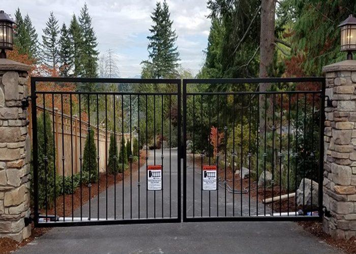 Standart Ferforje Bahçe Kapısı Modeli