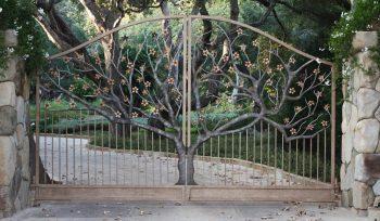 Tasarımlı Ferforje Bahçe Kapı Modeli