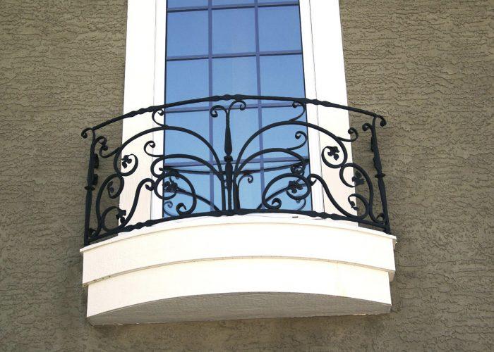Tekli Ferforje Pencere Korkuluk Modeli