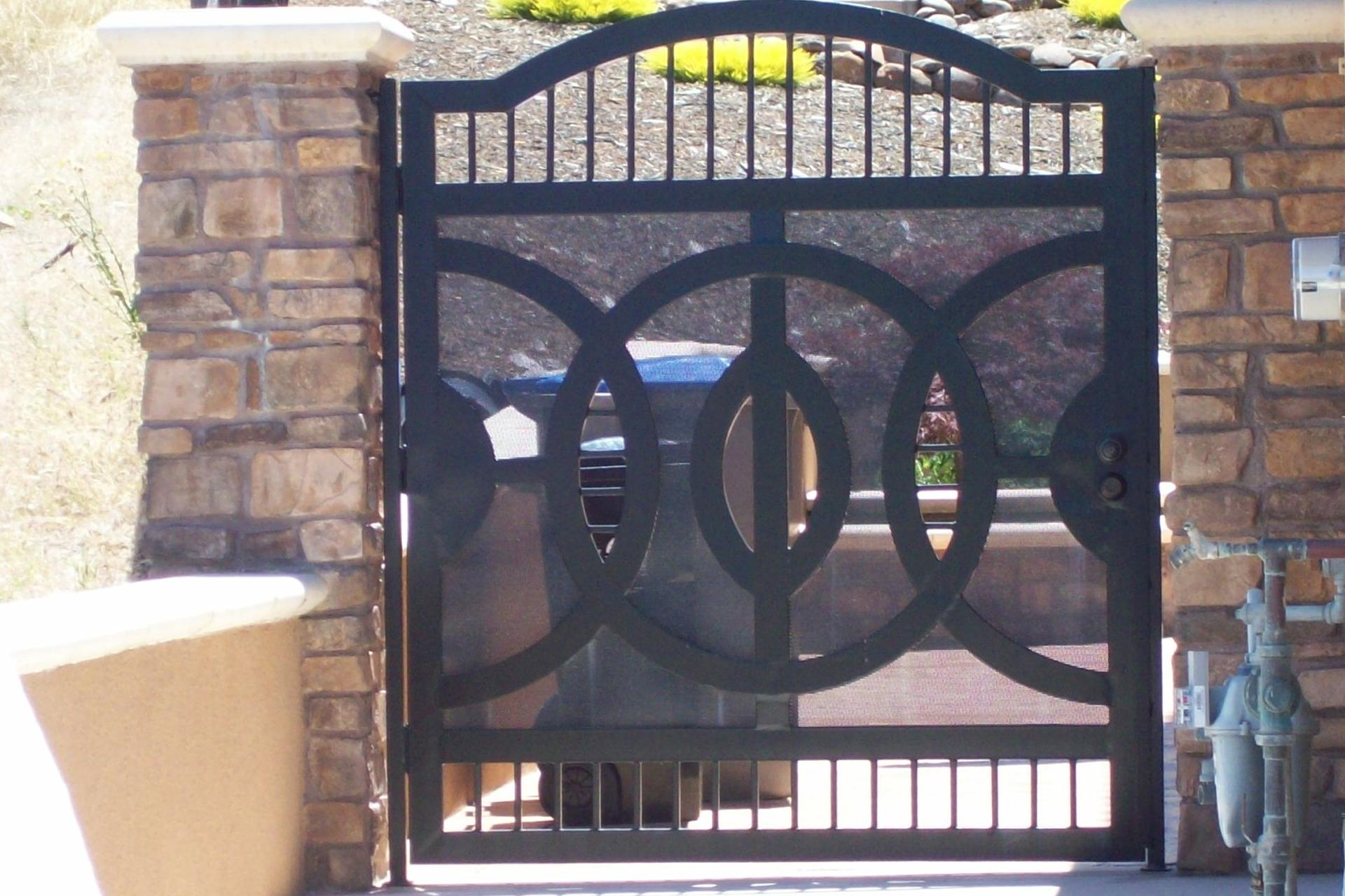 Yuvarlak Ferforje Kapı Modeli